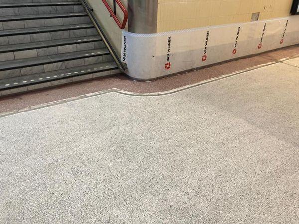 Station Deventer Terrazzo vloer portfolio 1