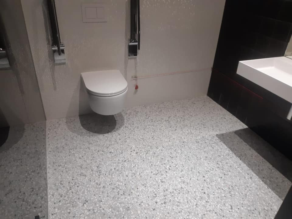 Terrazzo op basis van cement toilet 1